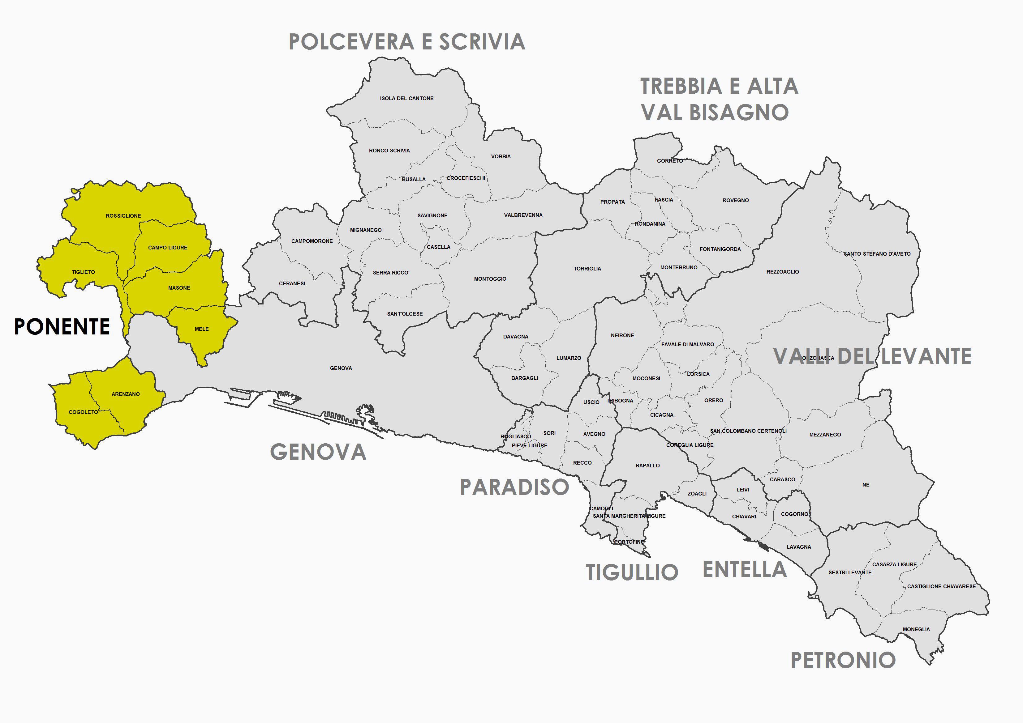 Zona Omogenea - Ponente - Comuni