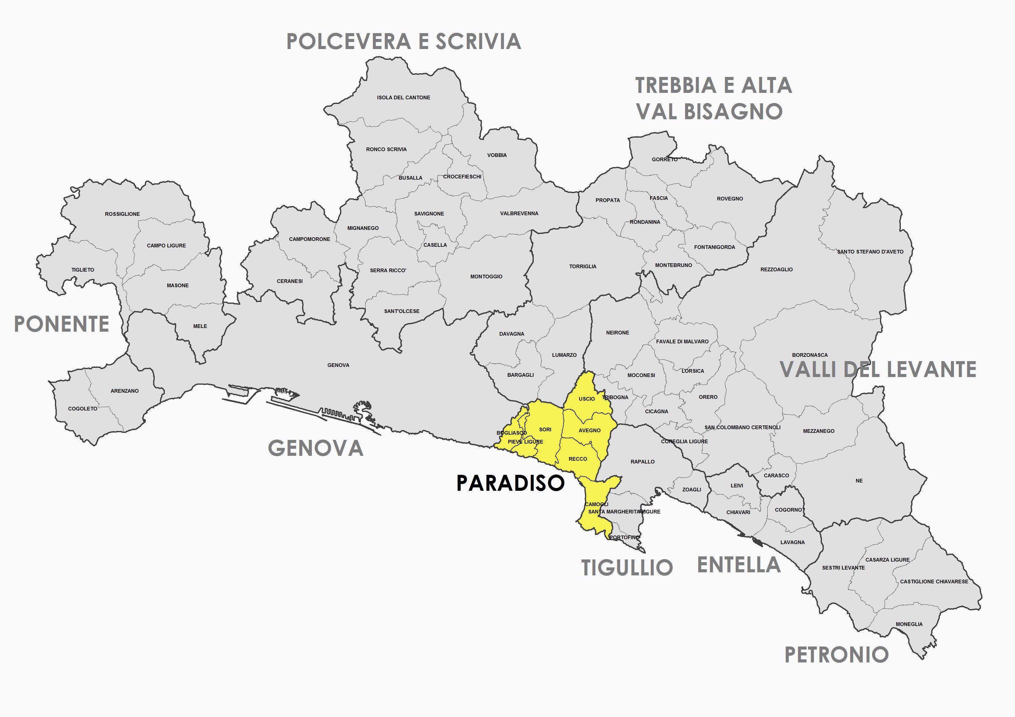 Zona Omogenea - Paradiso - Comuni